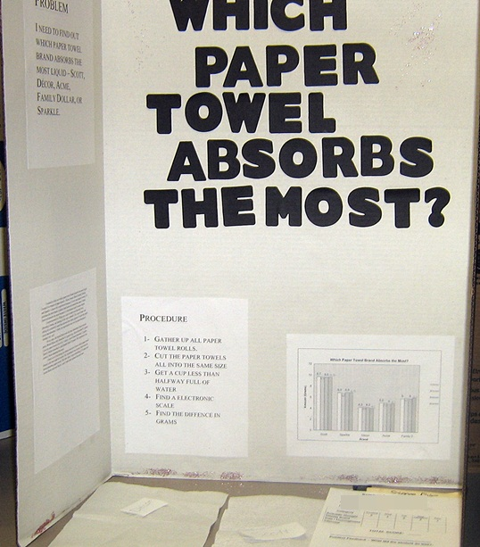 crestsciencefair / Which Paper Towel Absorbs the Most