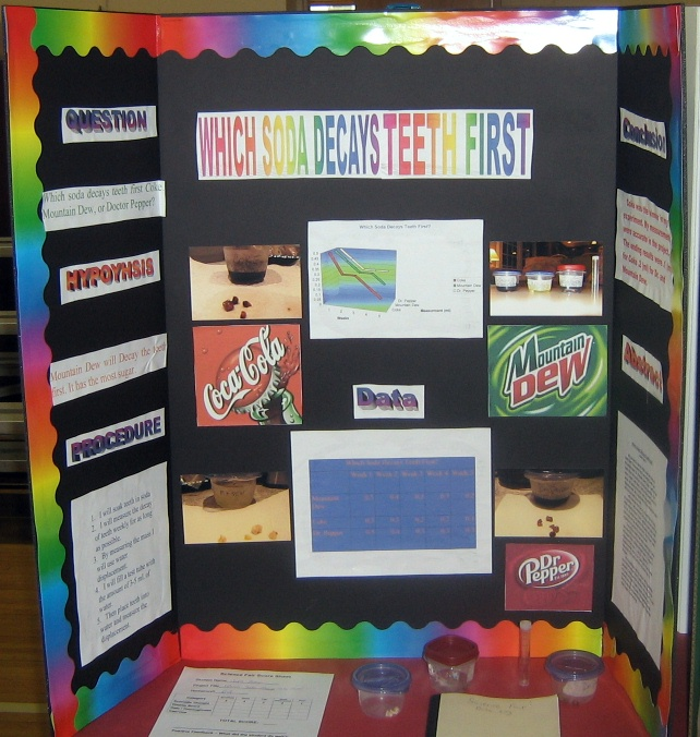 Science Fair Projects with Pop http://crestsciencefair.pbworks.com/w/page/23176936/Which%20Soda%20Decays%20Teeth%20First